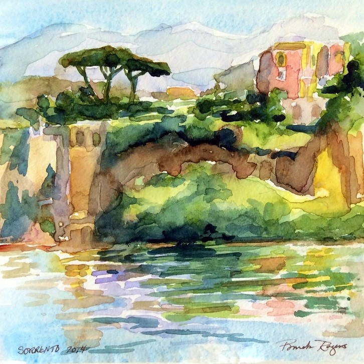 """Sorrento 2014"" original fine art by Pamela Jane Rogers"