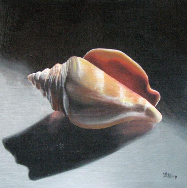 """Seashell"" original fine art by Lauren Pretorius"
