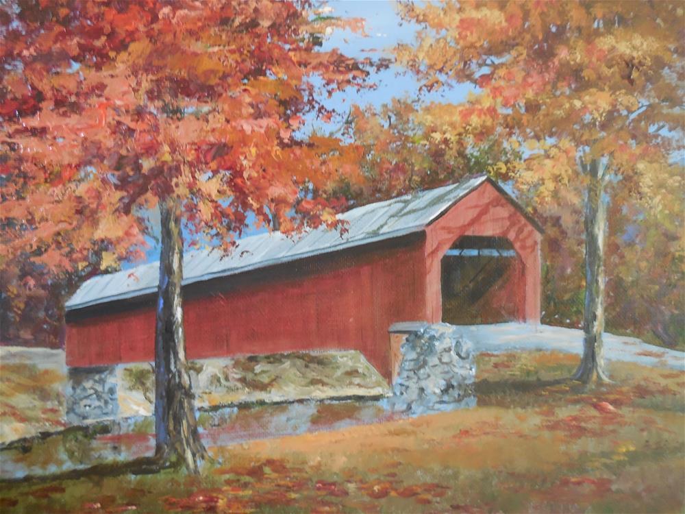 """Meems Bottom Bridge"" original fine art by Terri Nicholson"
