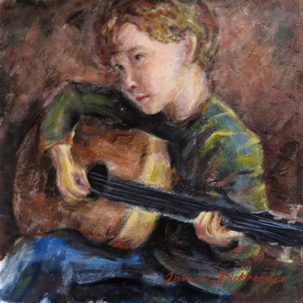 """""""Alan and Guitar"""" original fine art by Tammie Dickerson"""