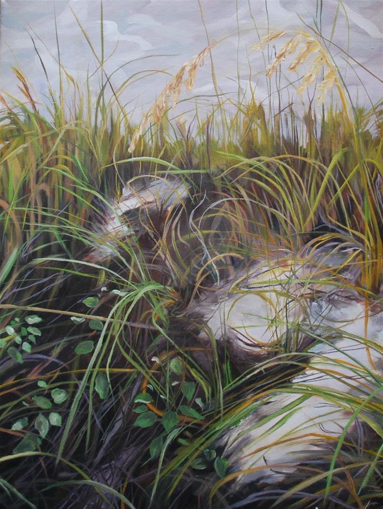 """Sea grass"" original fine art by Beverley Phillips"