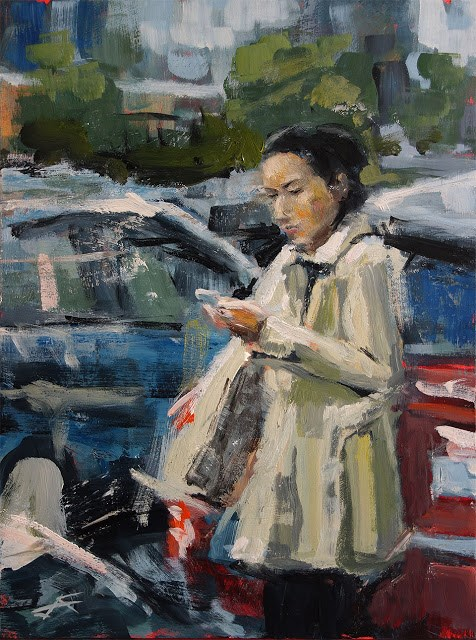 """Weather Check"" original fine art by J. Farnsworth"
