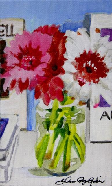 """Bookshelf 2"" original fine art by JoAnne Perez Robinson"