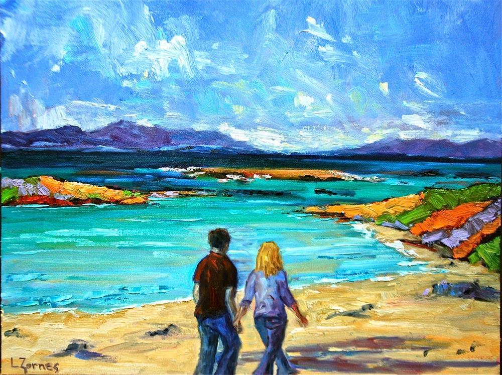 """Isle of Skye Beach Walk"" original fine art by Liz Zornes"