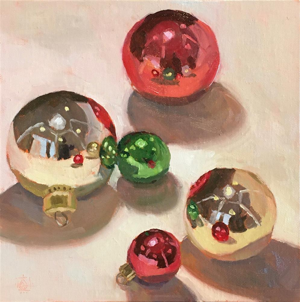 """Holiday Baubles"" original fine art by Carol Granger"