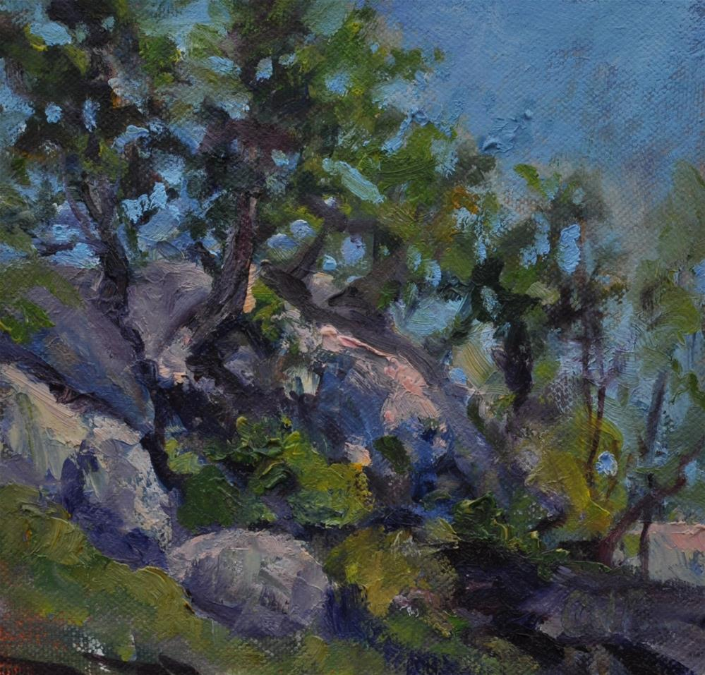 """Rocky Ledge"" original fine art by Catherine Crookston"