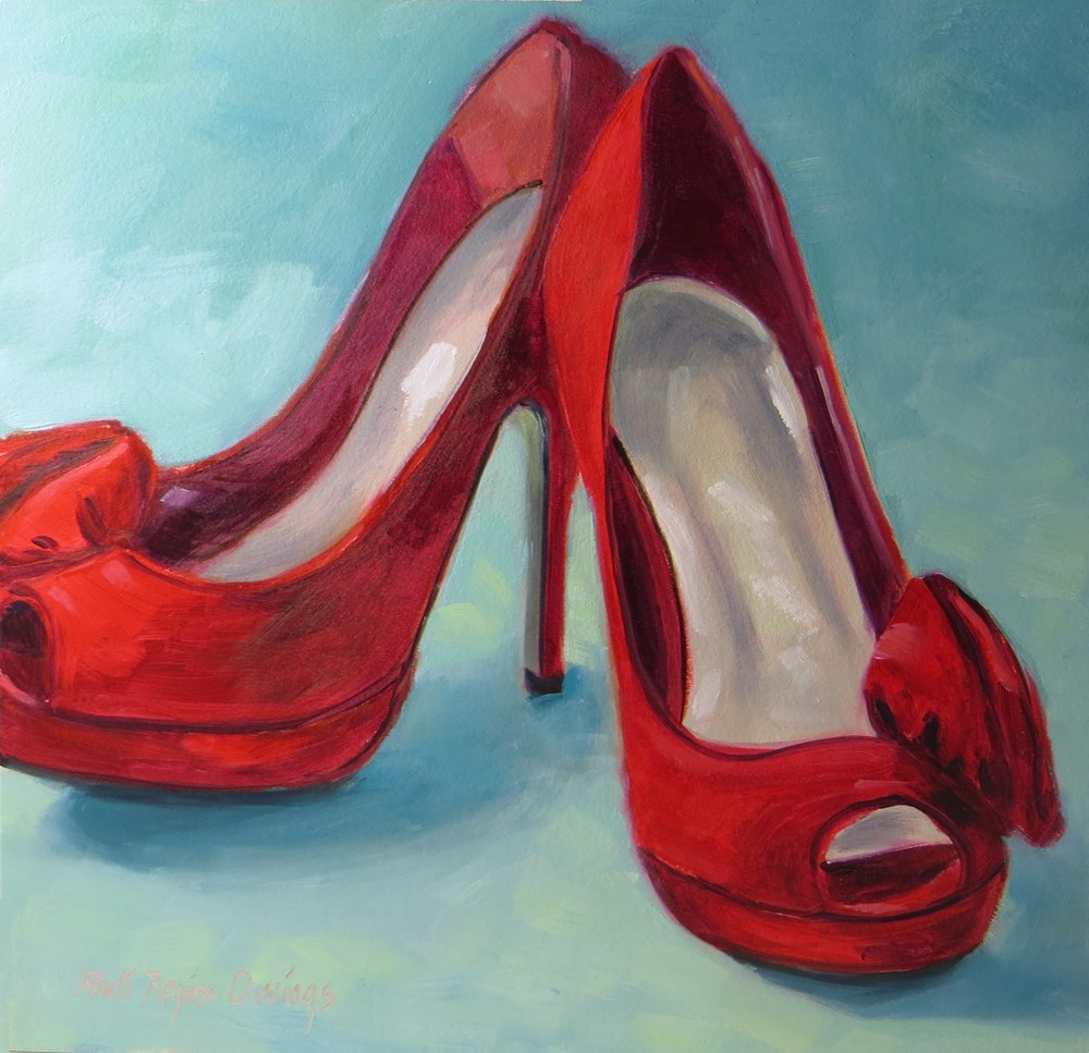 """Party Shoes"" original fine art by Rhett Regina Owings"