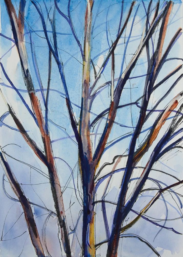 """Tree and Clouds"" original fine art by Chris Breier"