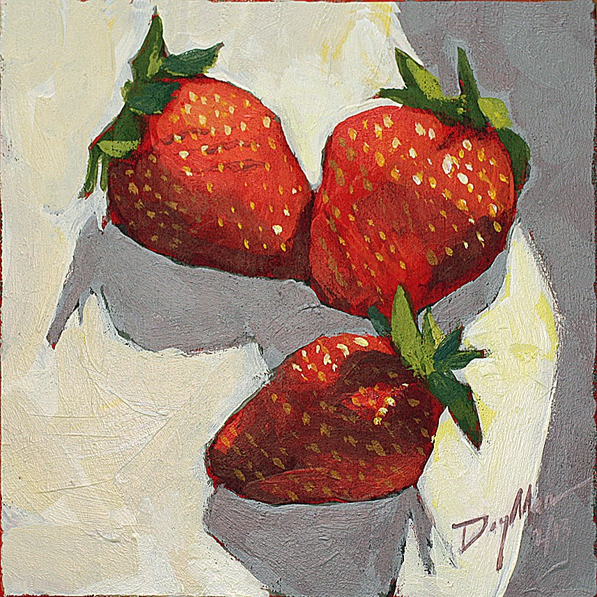 """Strawberries"" original fine art by Mike Daymon"