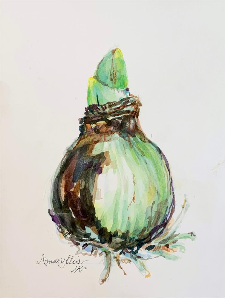 """""""Amaryllis"""" original fine art by Jean Krueger"""