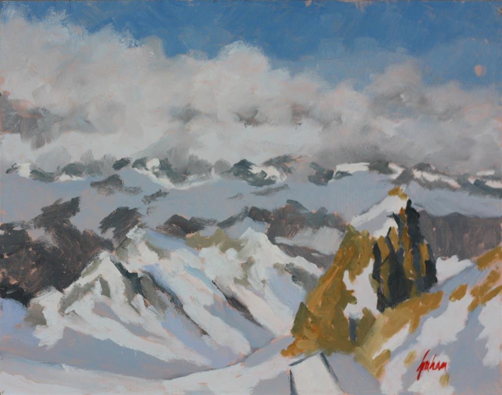 """Austrian Alps from 3000 metres"" original fine art by Graham Townsend"