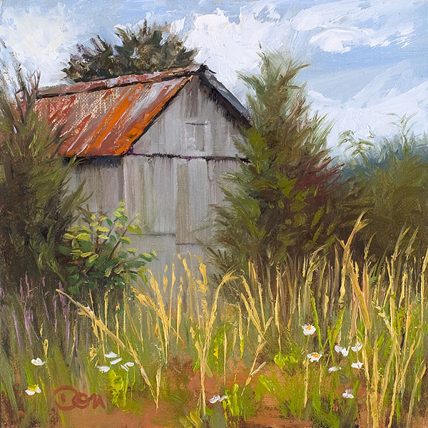 """""""Rusted Roof"""" original fine art by Don Stewart"""