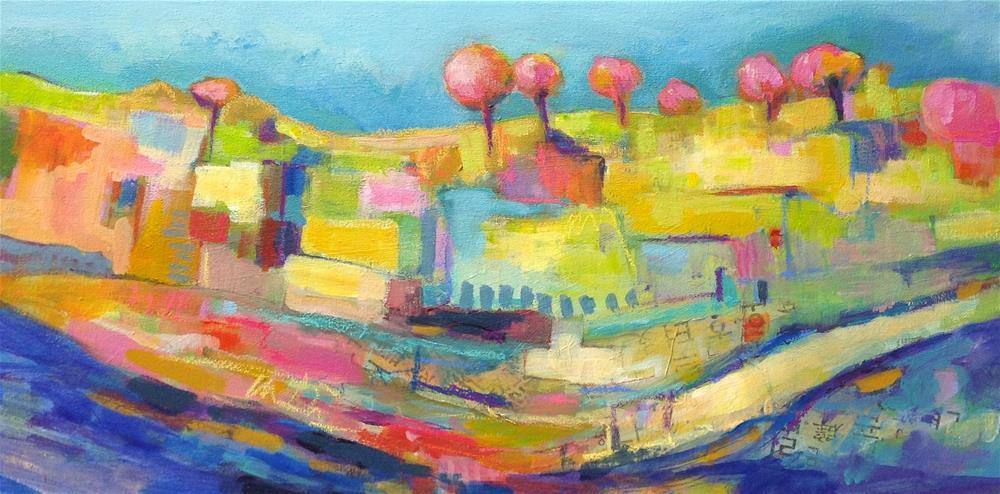 """Lollipop Trees"" original fine art by Patricia MacDonald"