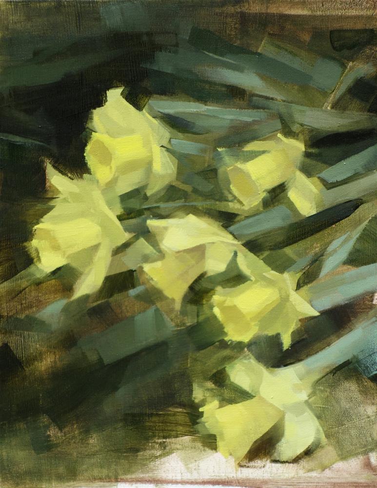 """""""Daffodil Hill, Brooklyn Botanic Gardens (no.107)"""" original fine art by Michael William"""