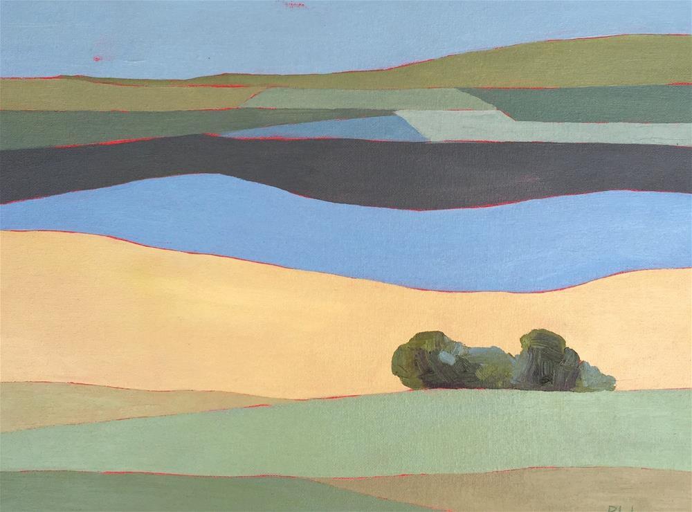 """Hills"" original fine art by Janet Bludau"