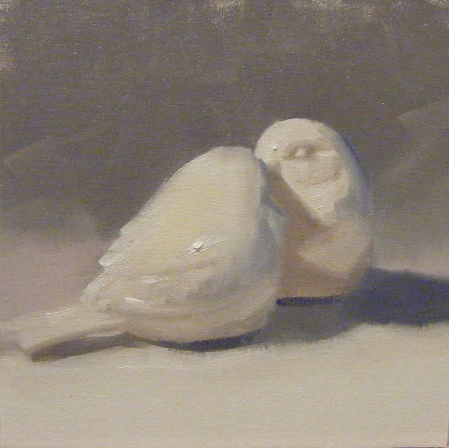 """LOVEBIRDS"" original fine art by Helen Cooper"