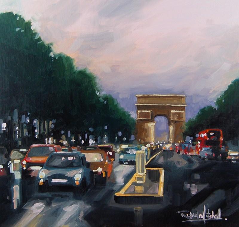 """""""No 428 Evening in Paris"""" original fine art by Robin J Mitchell"""