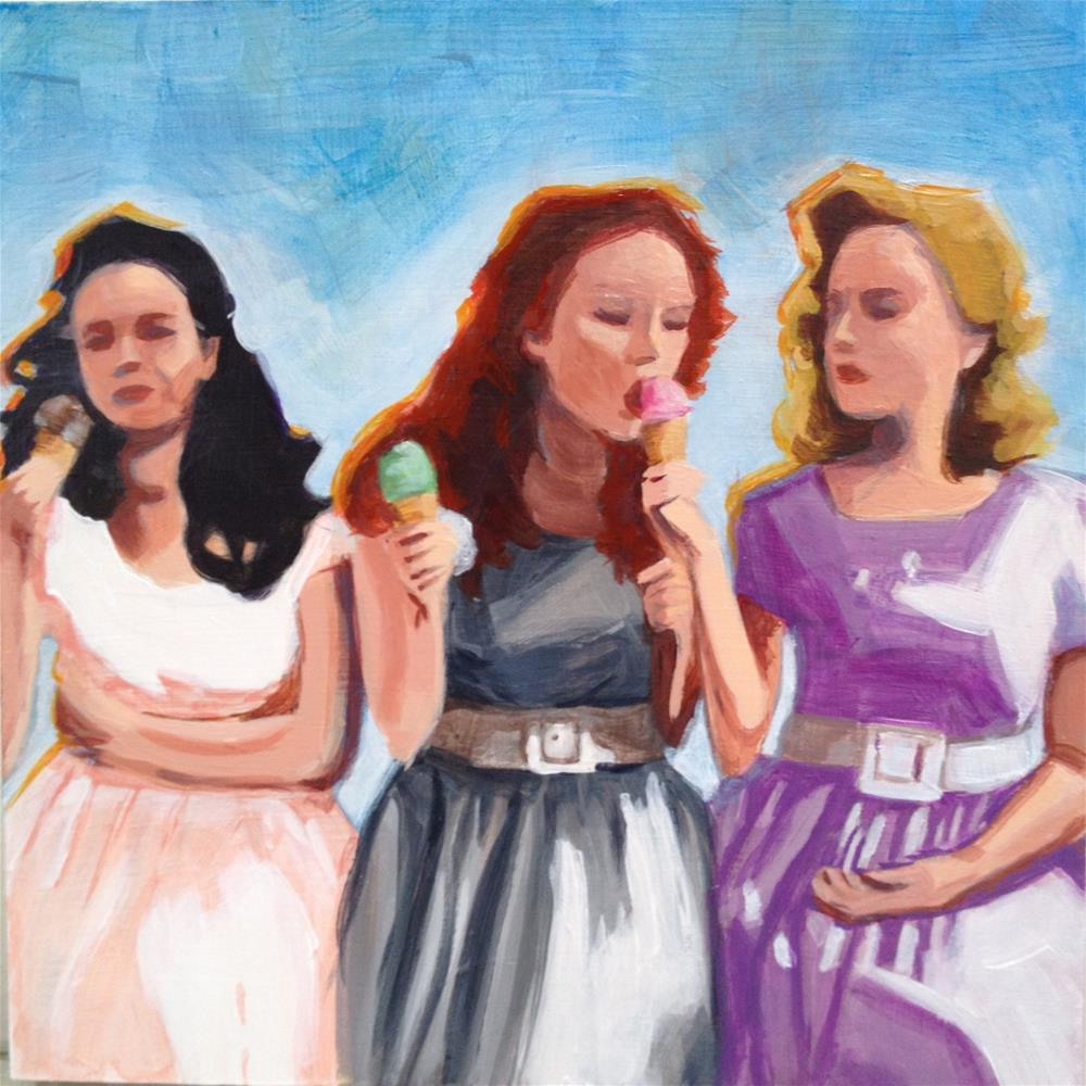 """Trio of Treats - Yesterday"" original fine art by Bev Thibault"