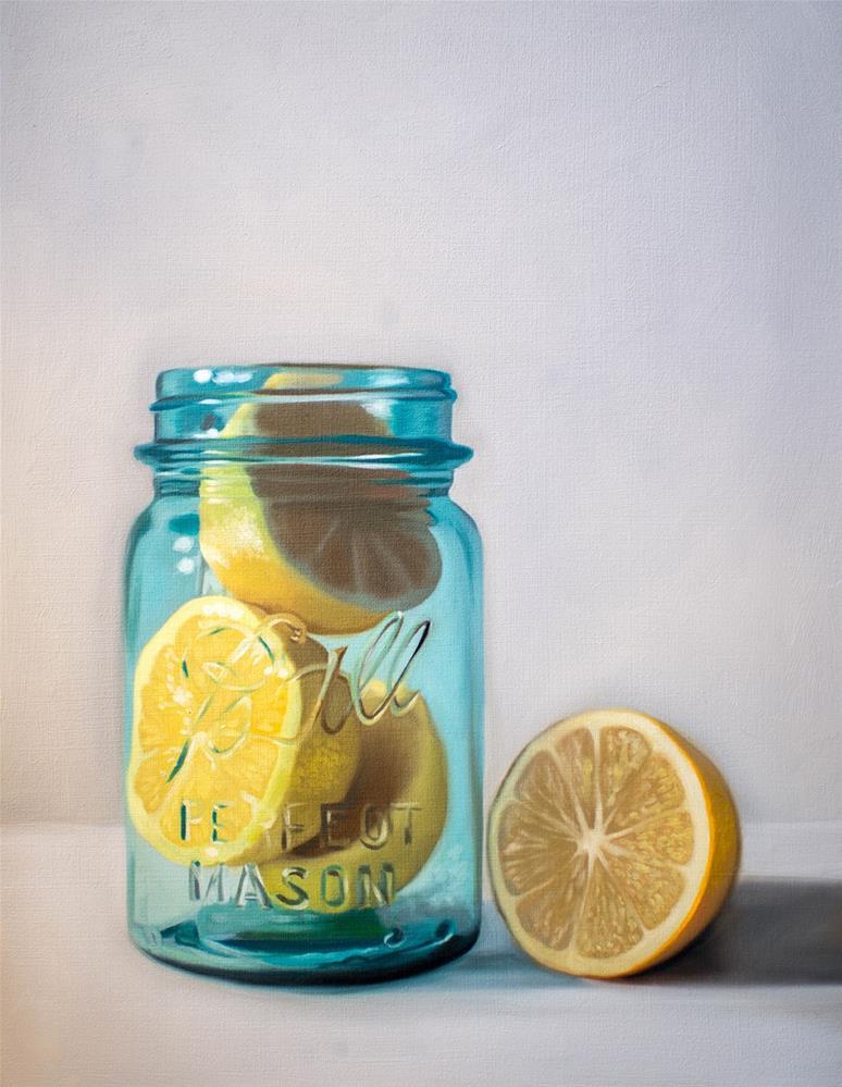 """""""Citrus Jar"""" original fine art by Lauren Pretorius"""