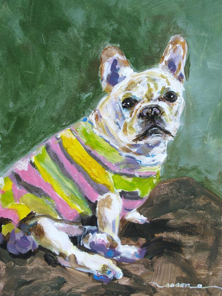 """""""French Bulldog"""" original fine art by Susan Elizabeth Jones"""
