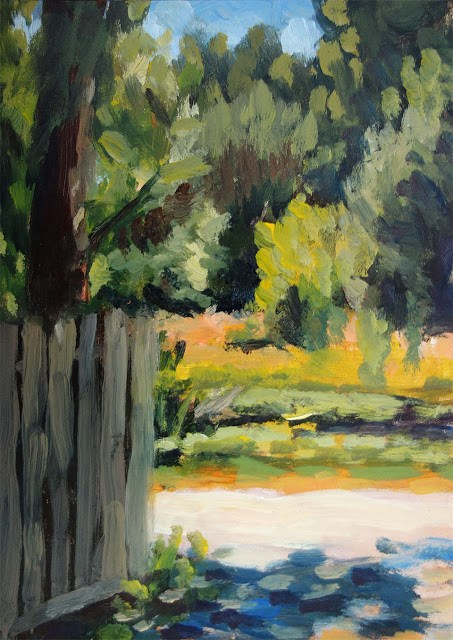 """Across the Drive"" original fine art by J. Farnsworth"