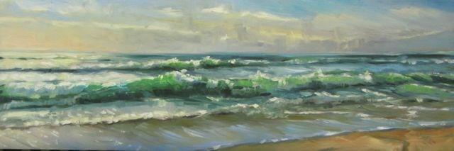 """A SPACIFIC OCEAN"" original fine art by Mb Warner"