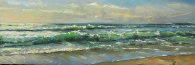 """A SPACIFIC OCEAN"" original fine art by Mb Warner"