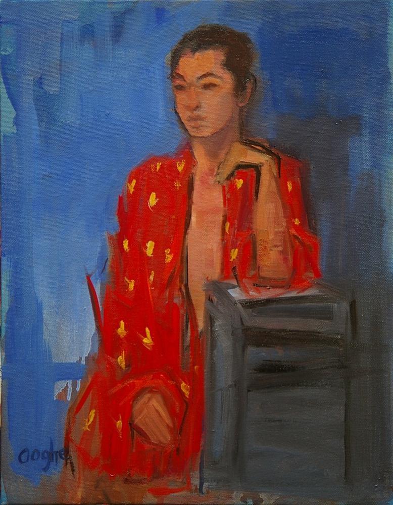 """""""Red Silk Robe"""" original fine art by Angela Ooghe"""