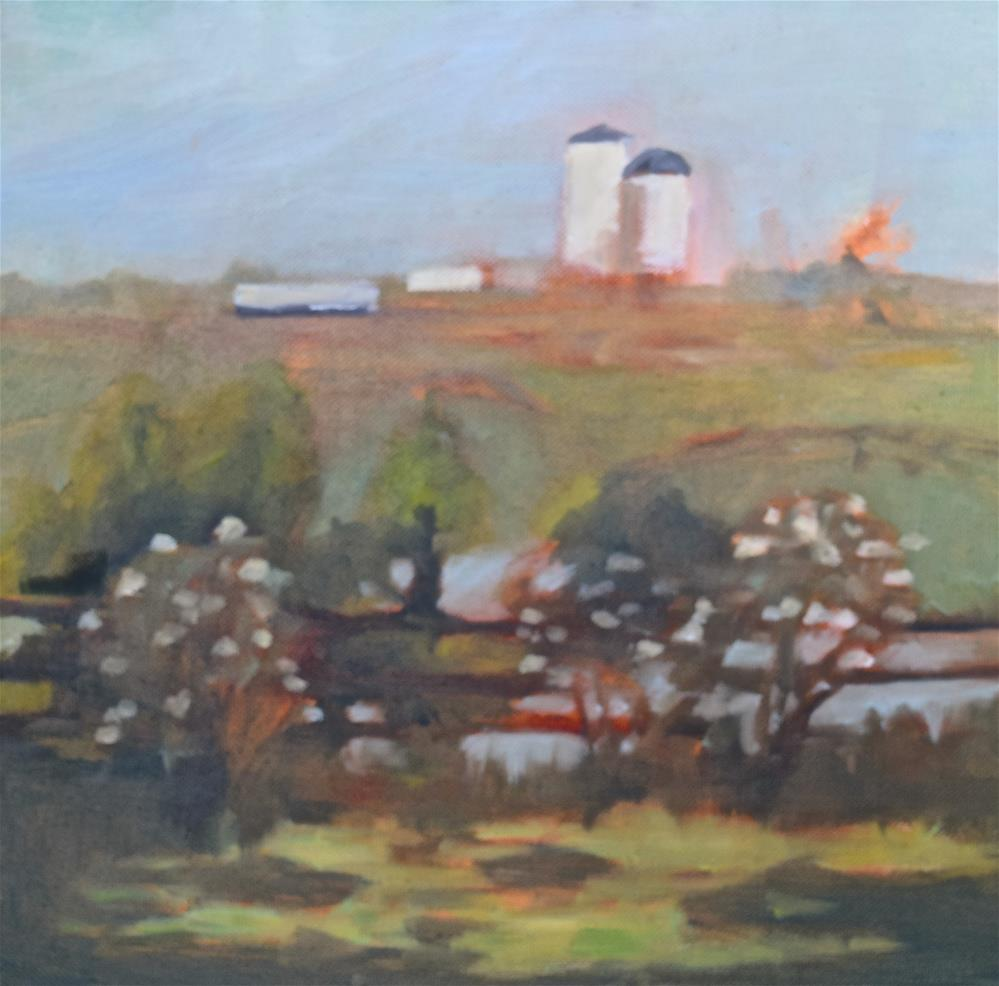 """the hill"" original fine art by Theresa Heidig Rooney"