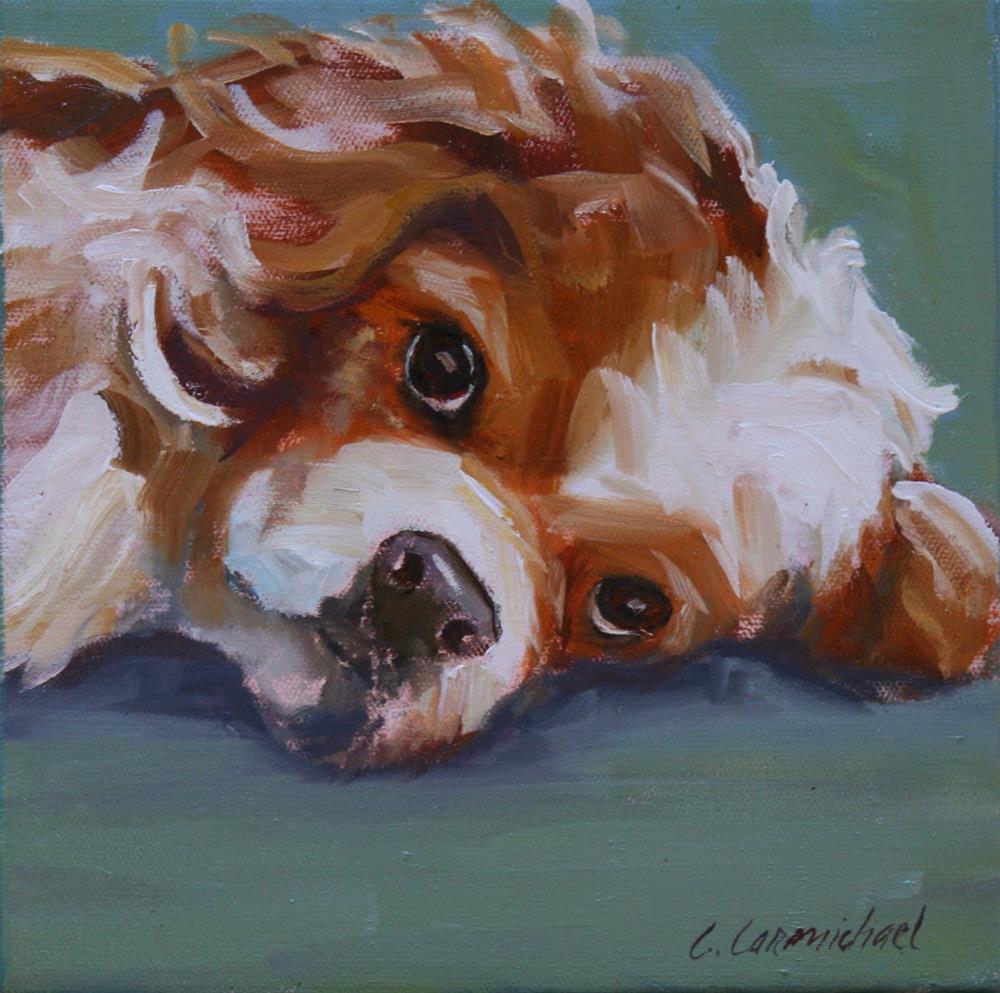 """tuckered"" original fine art by Carol Carmichael"