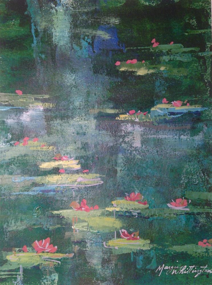"""Lily Pads 3"" original fine art by Margie Whittington"