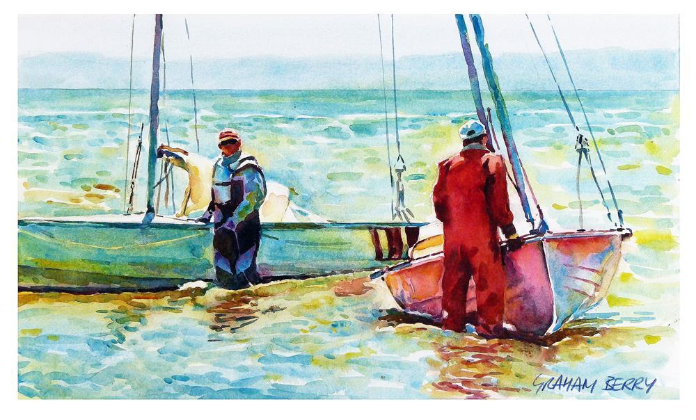 """""""Lytham sailing"""" original fine art by Graham Berry"""