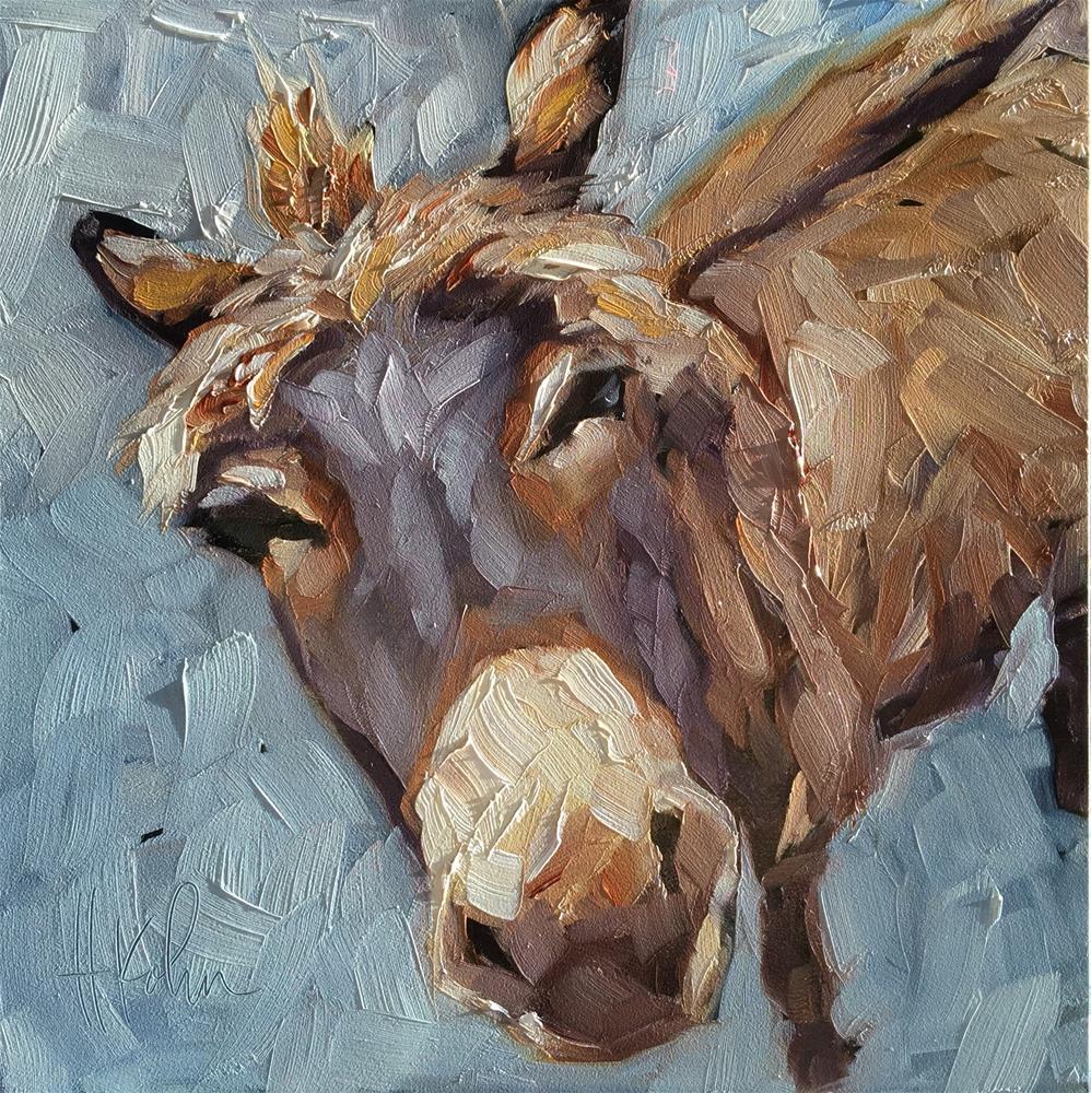 """Curious Donkey"" original fine art by Hallie Kohn"