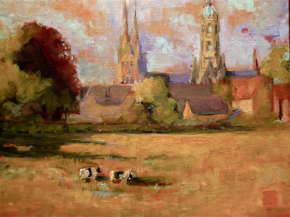 """Morning Field"" original fine art by Aurelio Saiz"