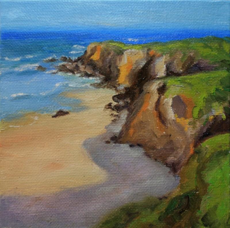 """""""Seaside Cliffs"""" original fine art by Jean Nelson"""
