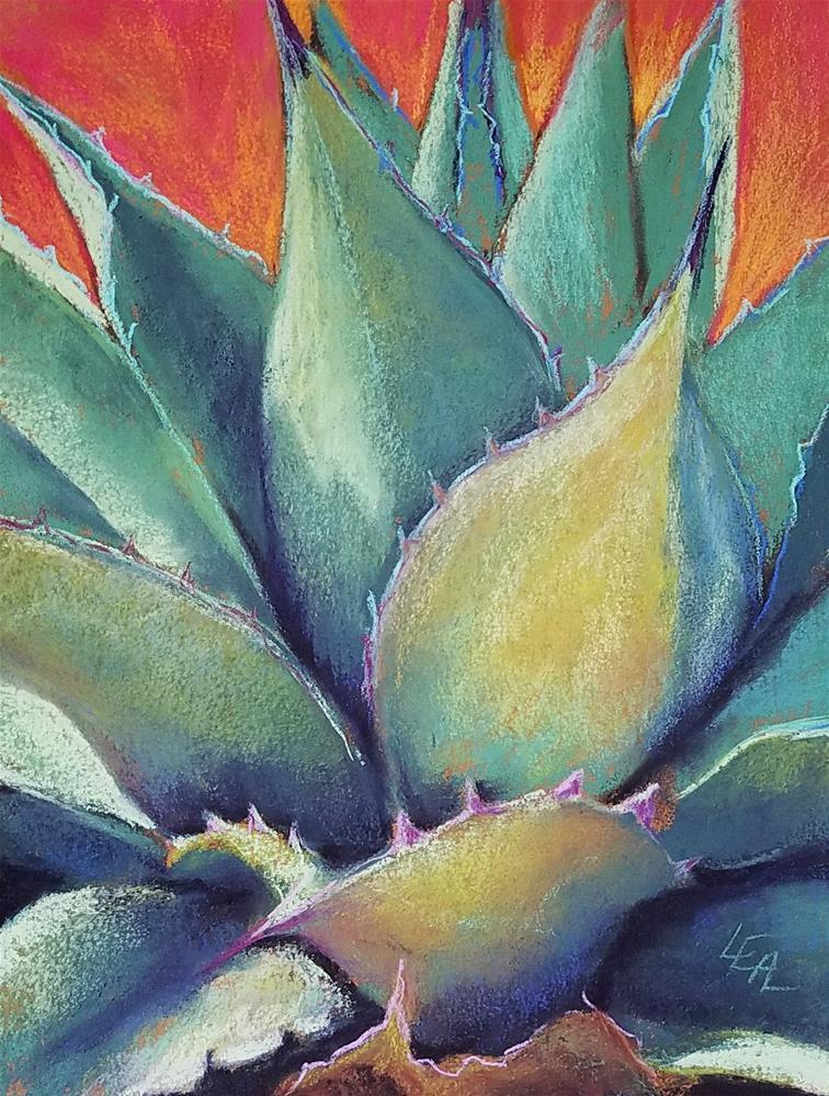"""Sea Green Fire"" original fine art by Anna Lisa Leal"