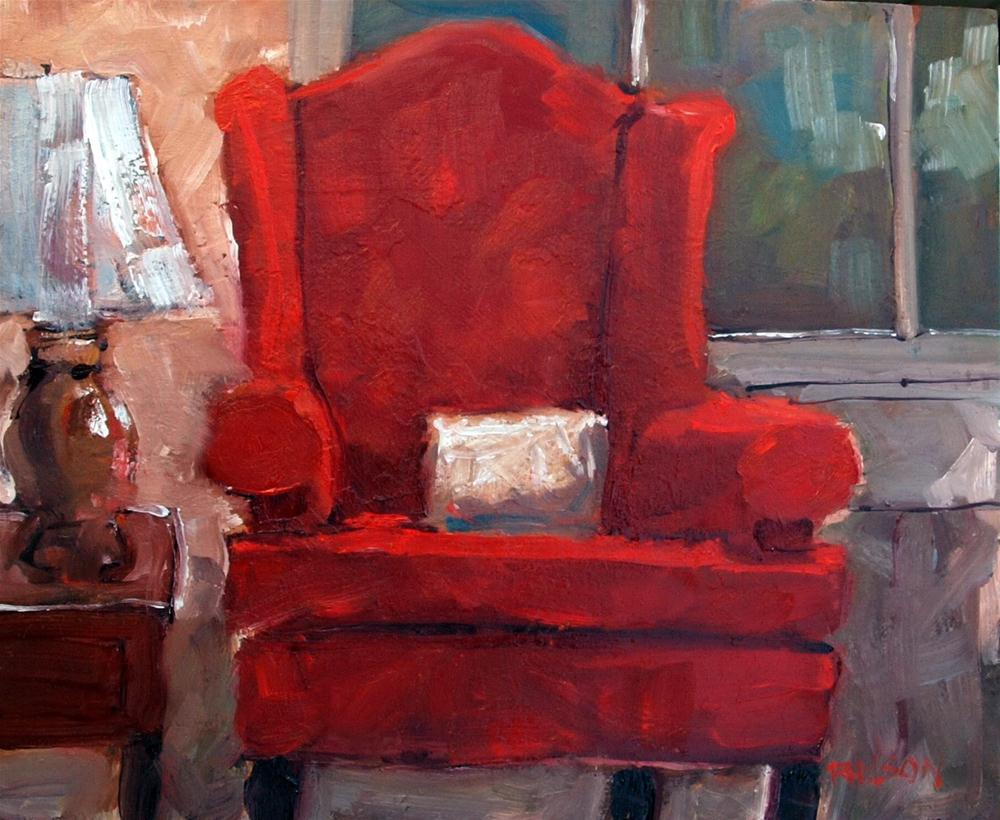 """The Red Chair"" original fine art by Rick Nilson"