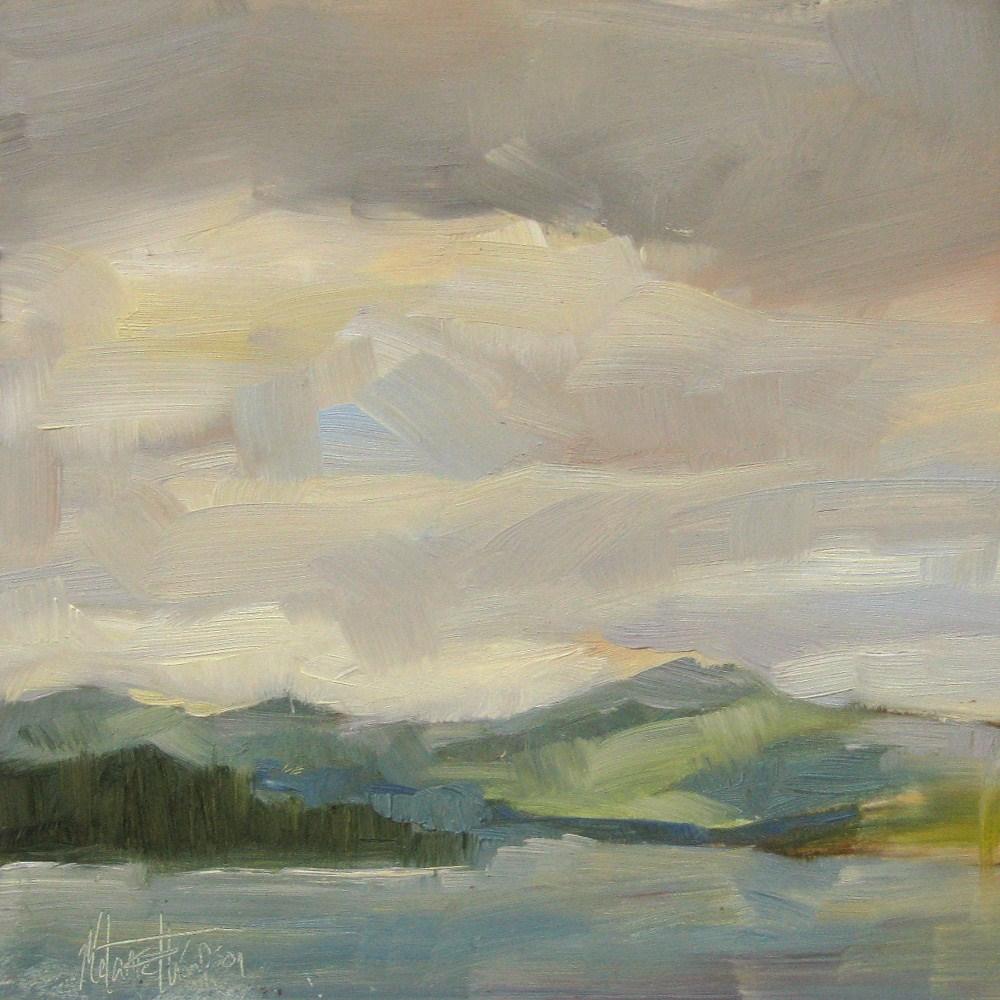 """Grays Bay Grey Day"" original fine art by Melanie Thompson"