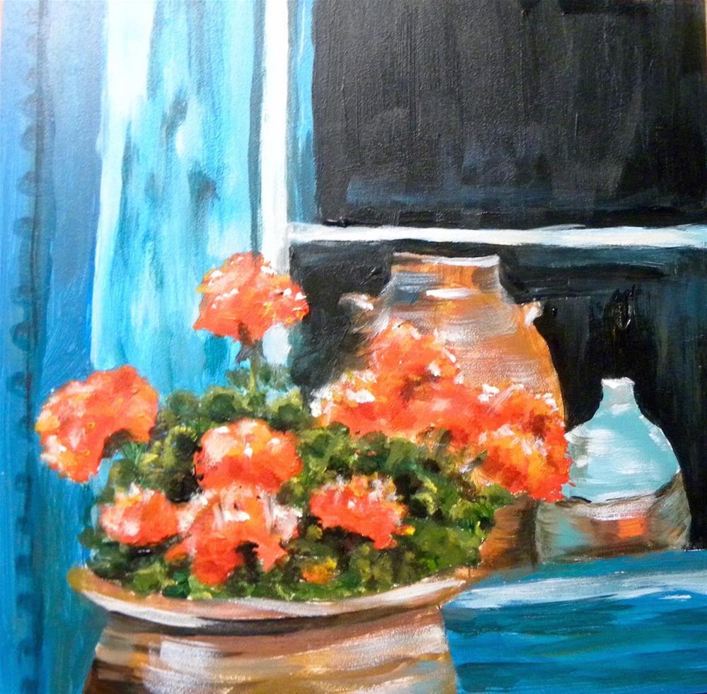 """Geraniums"" original fine art by cheryl buhrman"
