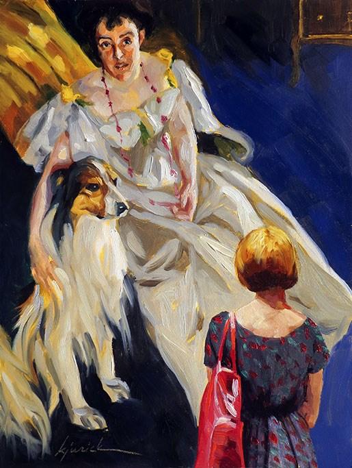 """Zorn"" original fine art by Karin Jurick"