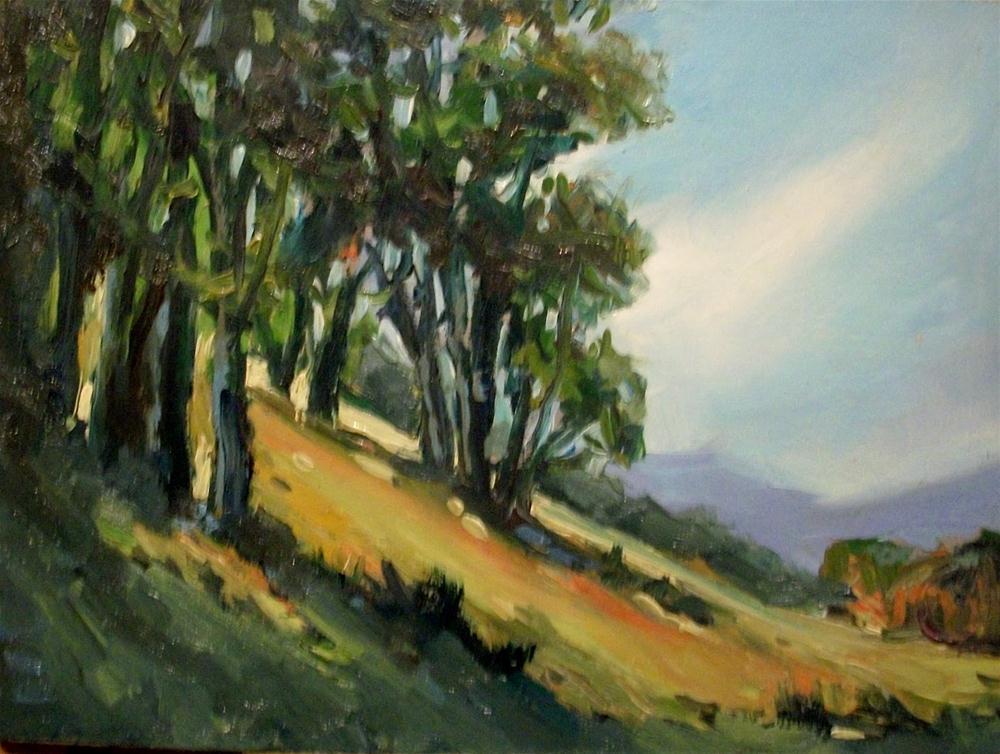 """OAK GREENS"" original fine art by Doug Carter"