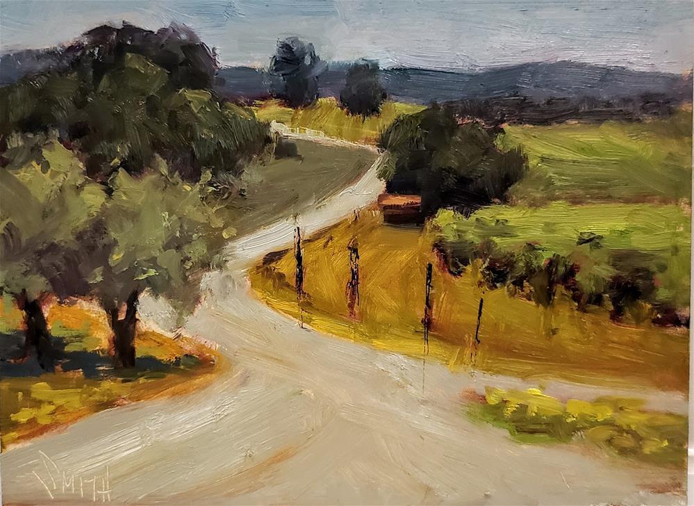 """""""Wine Trail """" original fine art by Barbie Smith"""