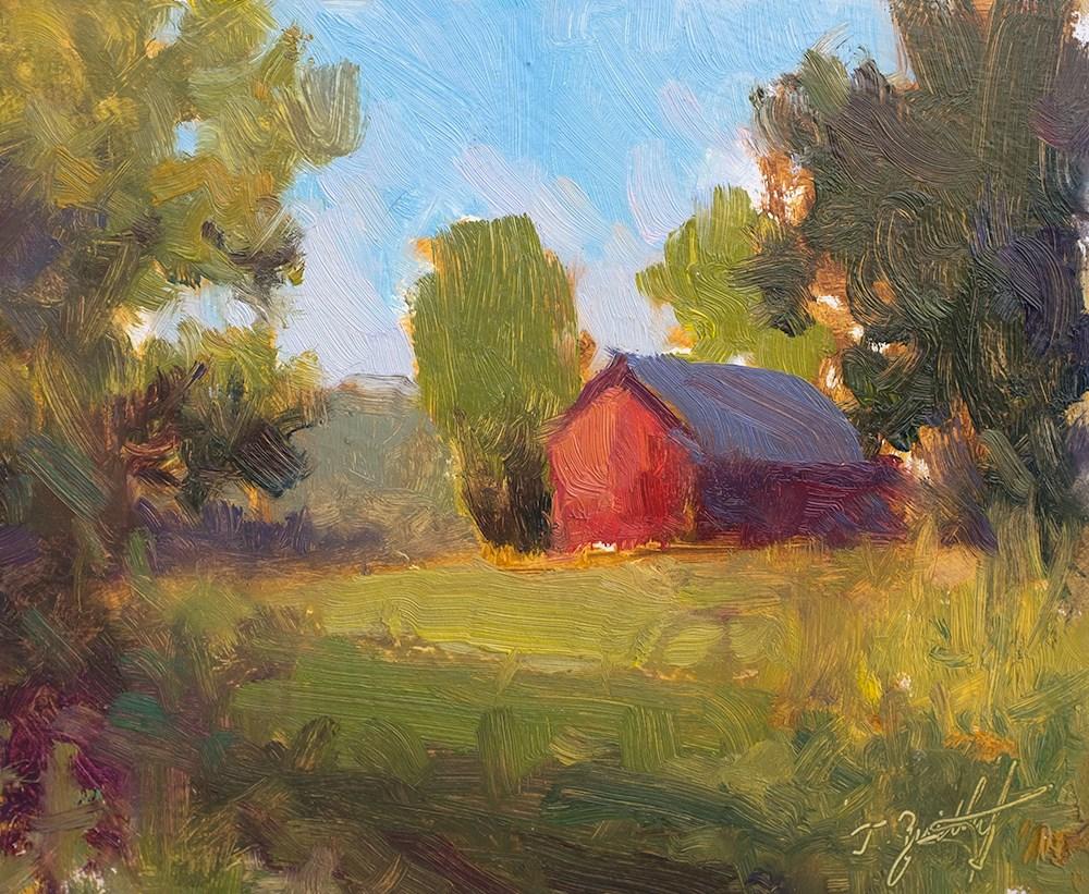 """Barn and Greens"" original fine art by Todd Zuithof"