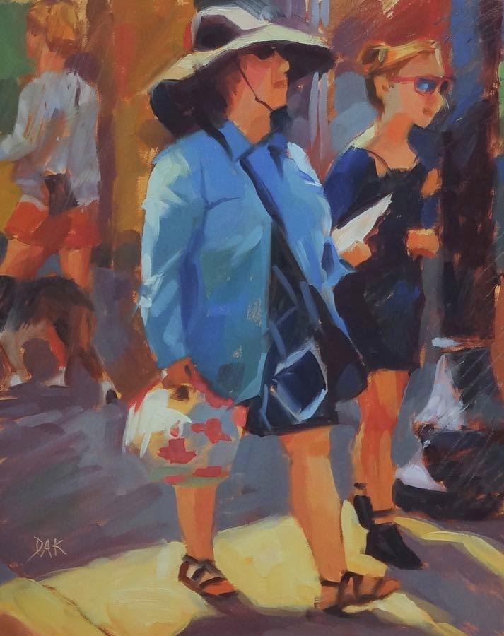 """""""Lady In Blue"""" original fine art by Deborah Ann Kirkeeide"""