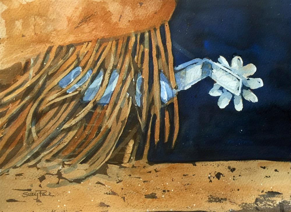 """Fringe Benefits"" original fine art by Suzy 'Pal' Powell"