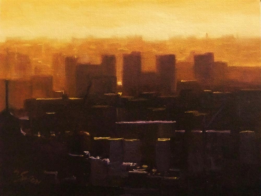"""Big City"" original fine art by Michael Sason"