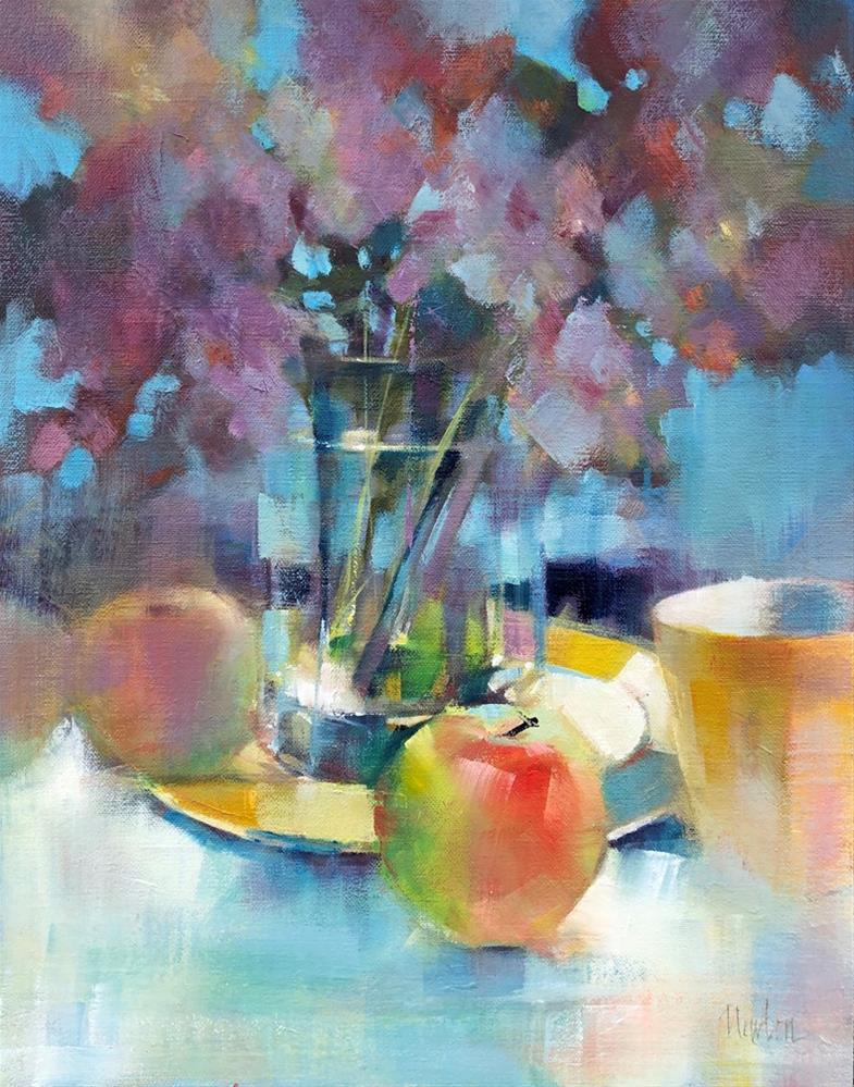 """Apples"" original fine art by Barbara Benedetti Newton"