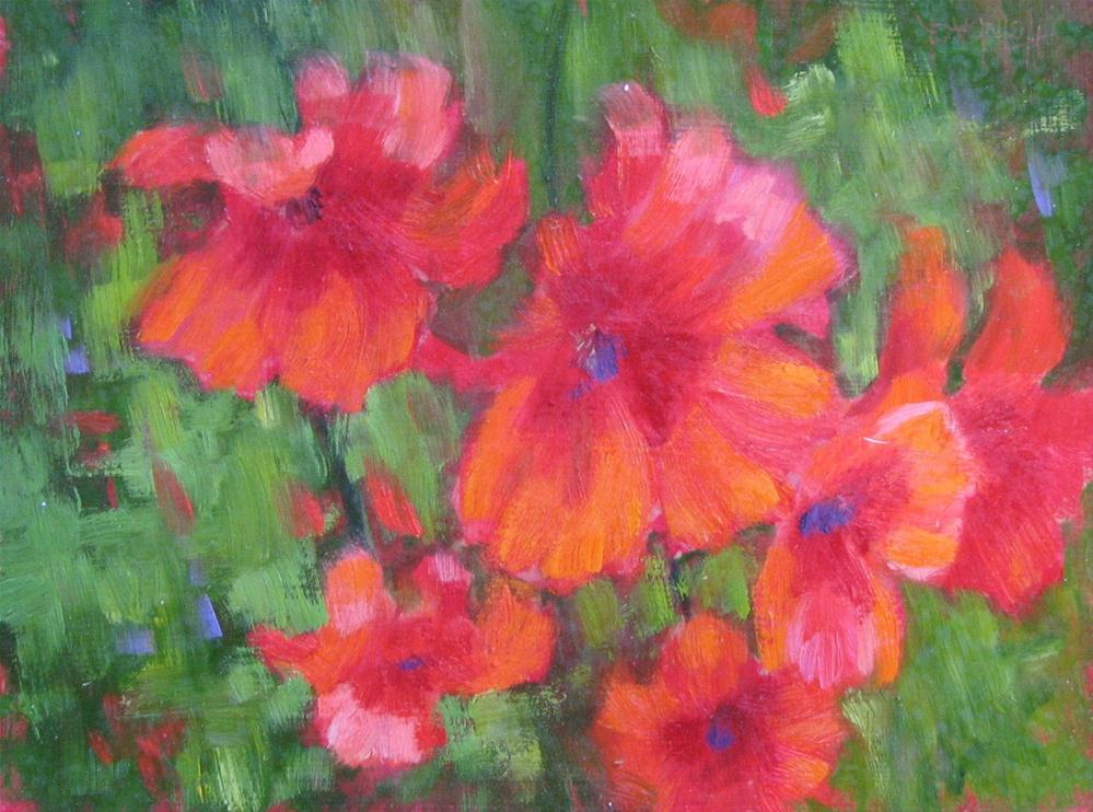 """""""Tuscan Poppies"""" original fine art by Pam Holnback"""