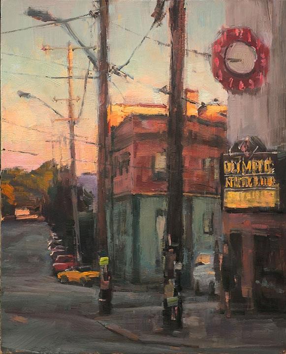 """Summer evening, Ballard"" original fine art by Charles Thomas"