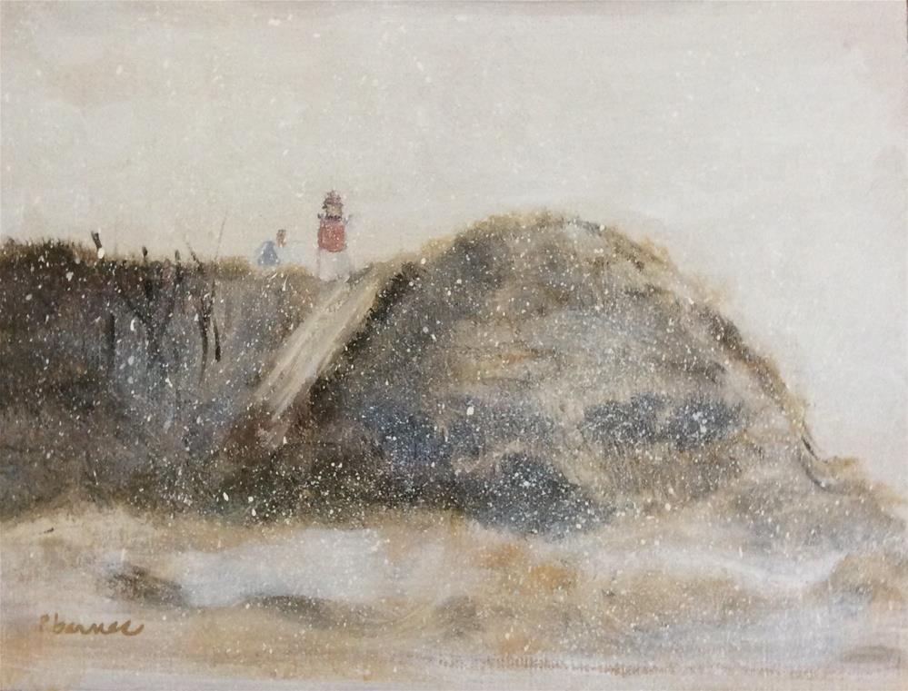 """""""Cape Cod Snow"""" original fine art by Patty Barnes"""